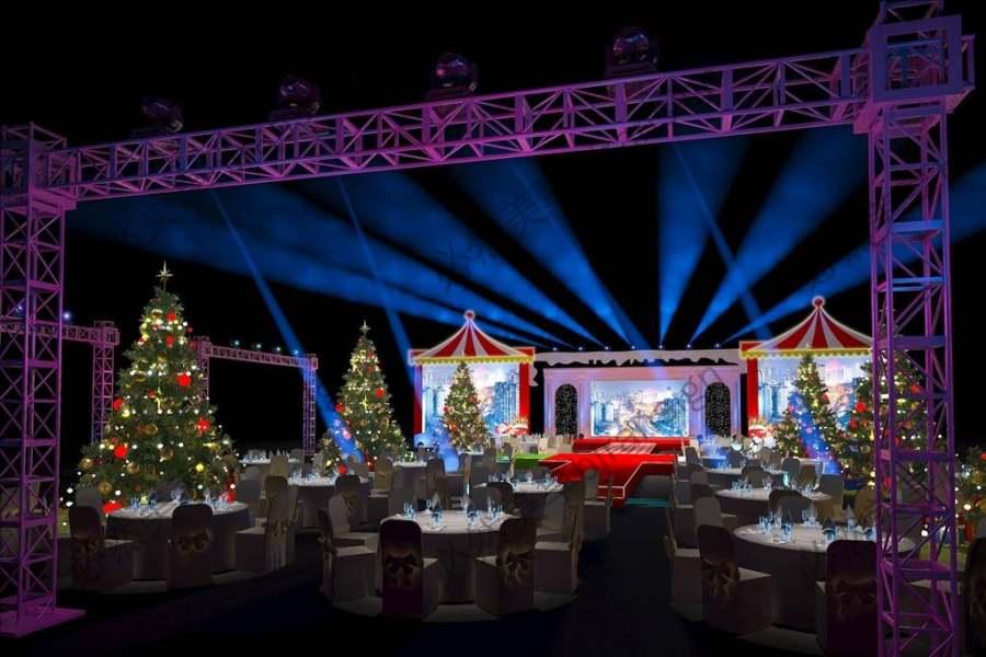 圣诞舞台设计3d效果图