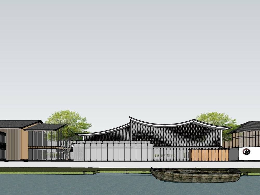 绿都丁桥现代主义风格2层售楼处模型