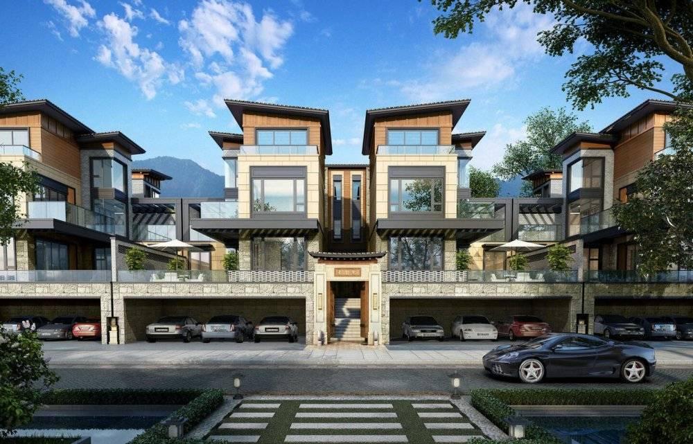 成都现代主义风格3层独栋别墅