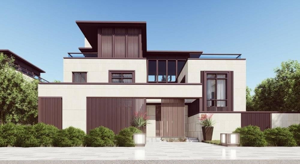 中粮新亚洲现代主义风格独栋3层豪宅别墅