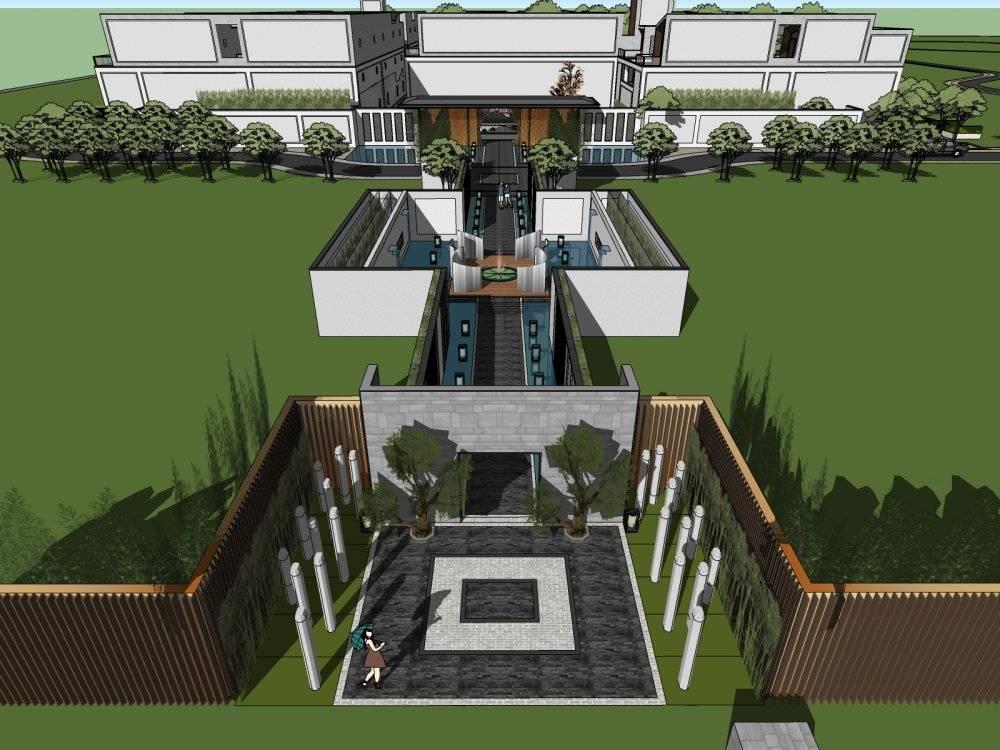 现代主义风格3层别墅