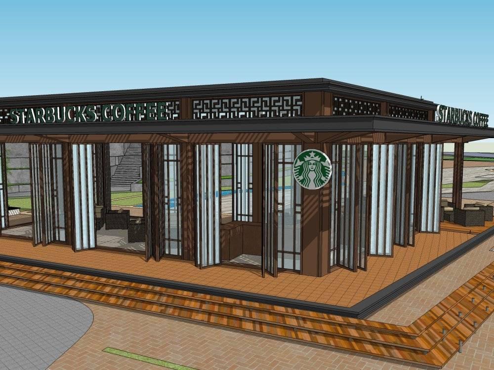 现代主义风格1层商店