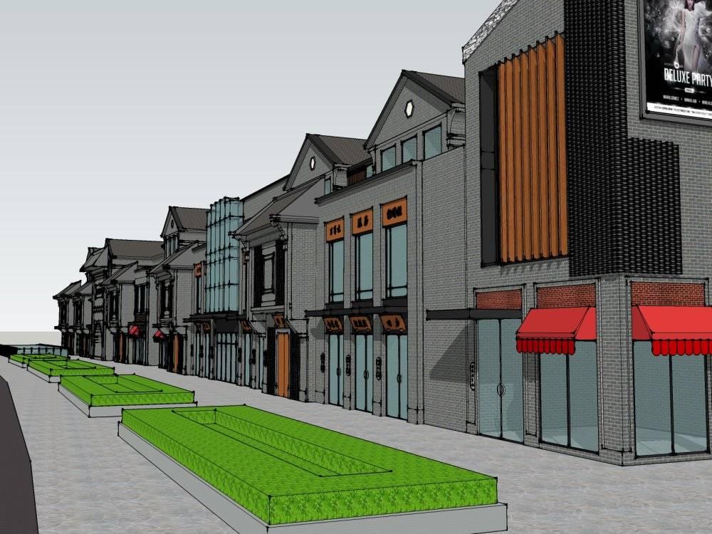 西方新古典韩城新天地3层商业街