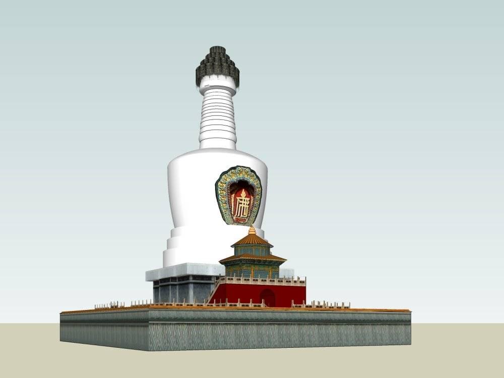 北海白塔模型