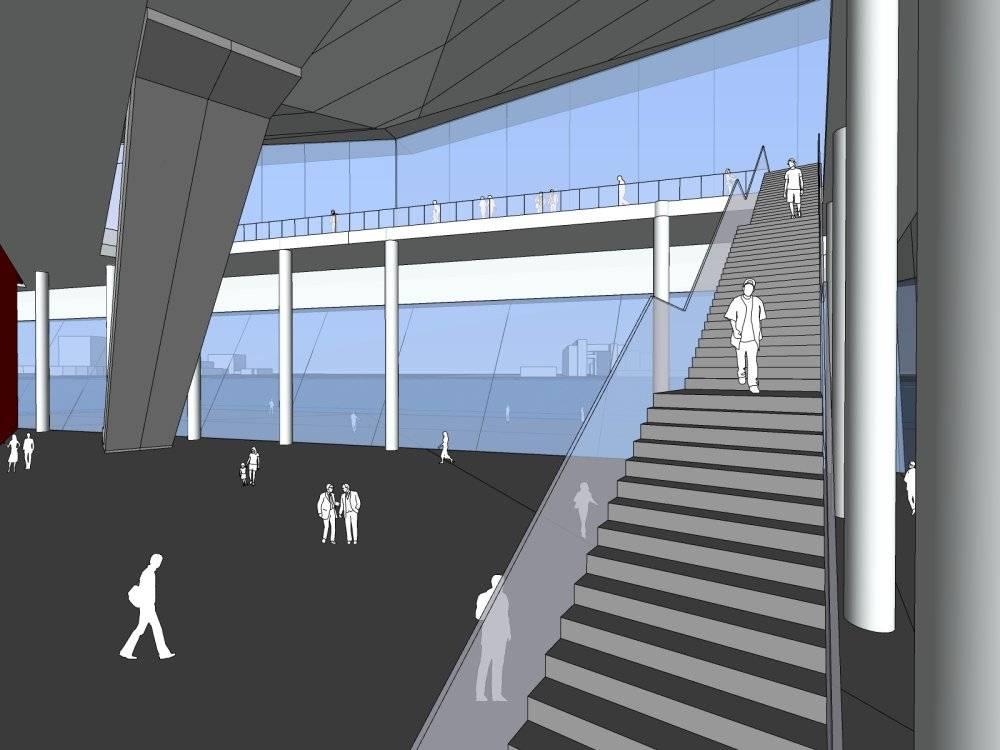 现代主义风格2层文化中心