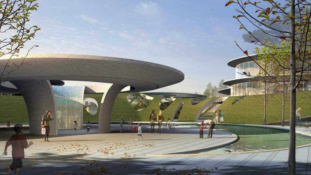现代主义风格张家港文化中心