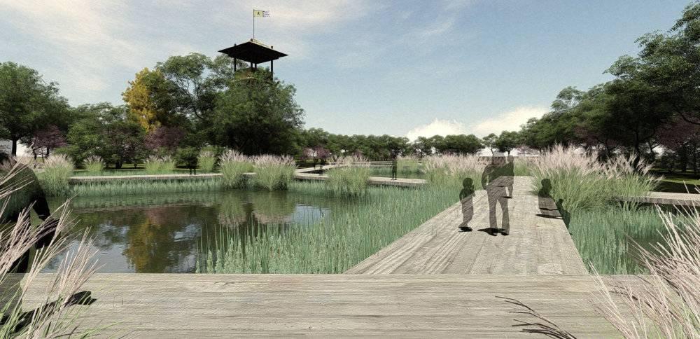 古典主义风格巢湖水寨主题景区模型