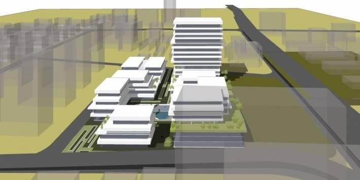 办公园区建筑模型