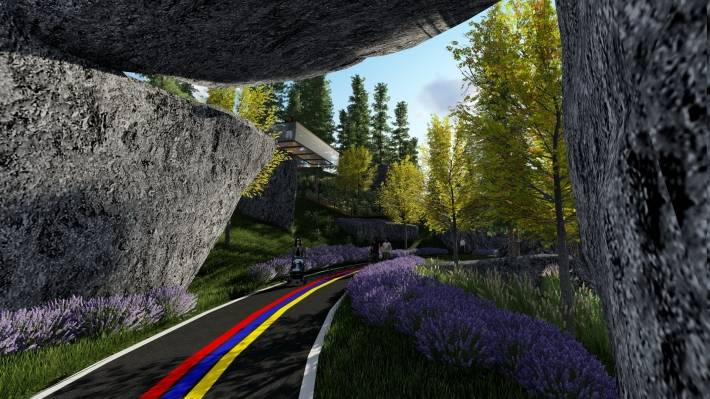 公园景观模型