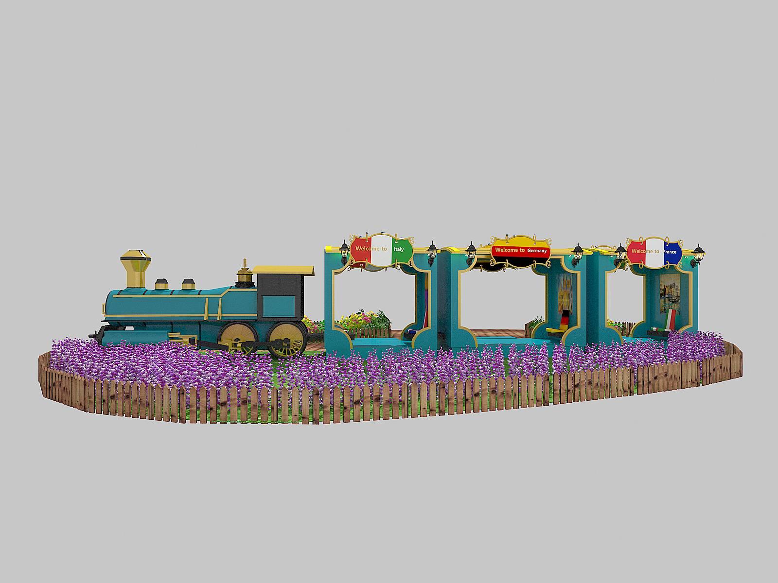 火车欧式风情