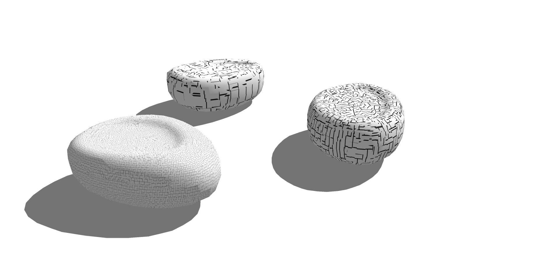 石质不规则椭圆sketchup素材