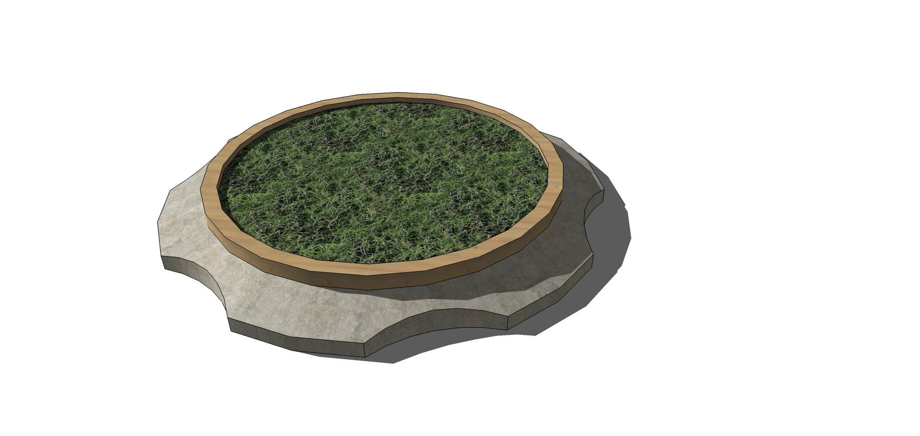圆形花台种植池