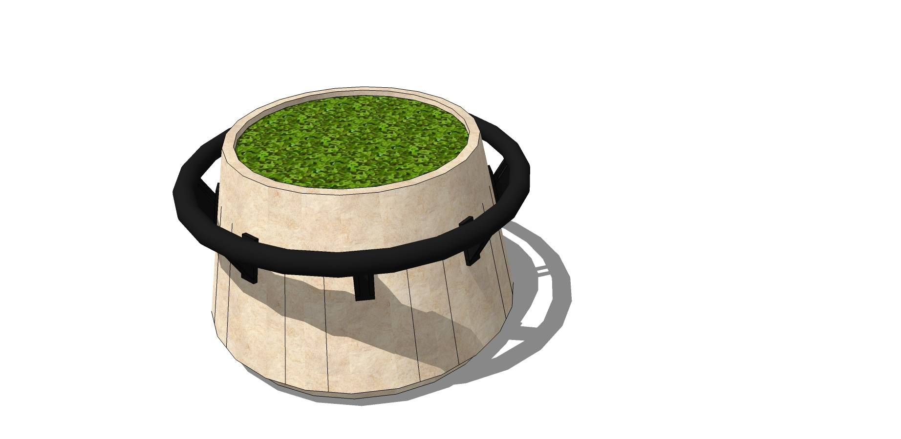 井型种植池sketchup模型素材