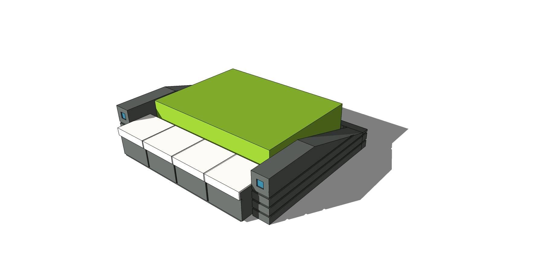 创意树池坐凳SU模型素材