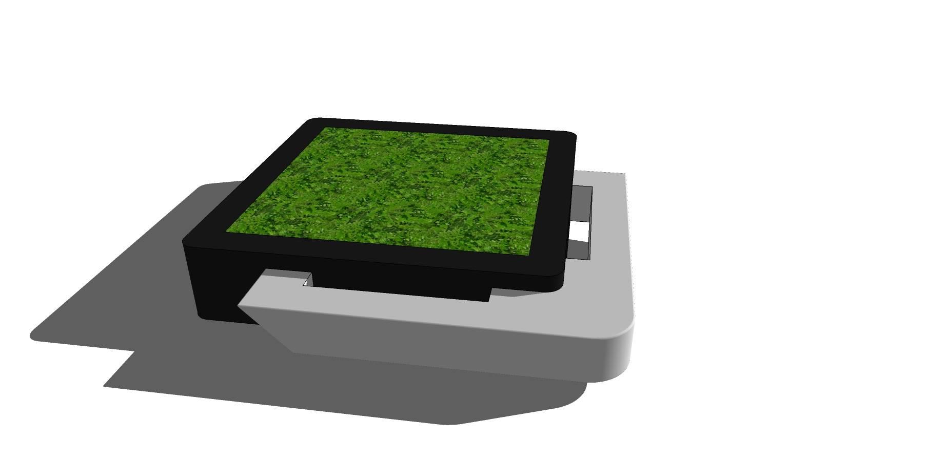 不规则组合种植池坐凳sketchup模型素材