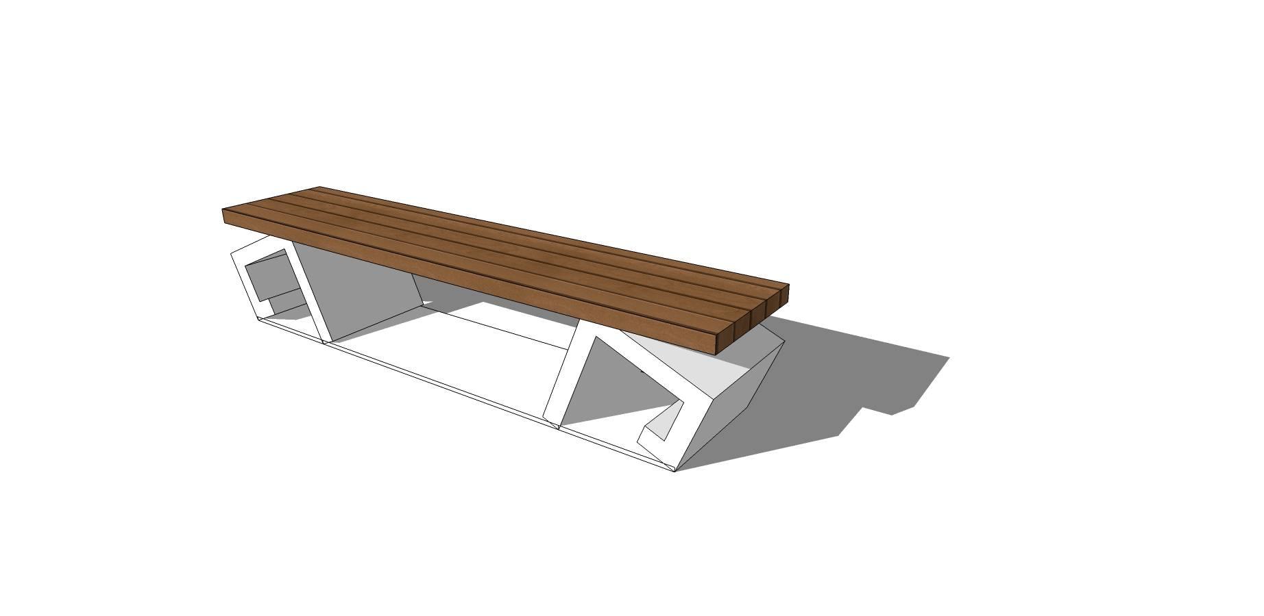 简约创意户外休息坐凳模型