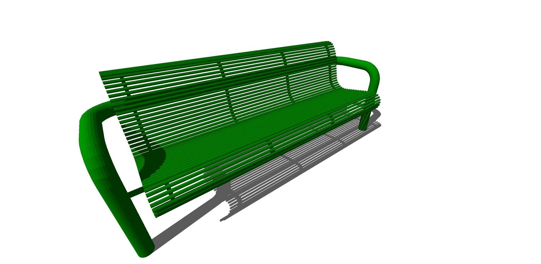 绿色铁艺镂空座椅sketchup模型素材