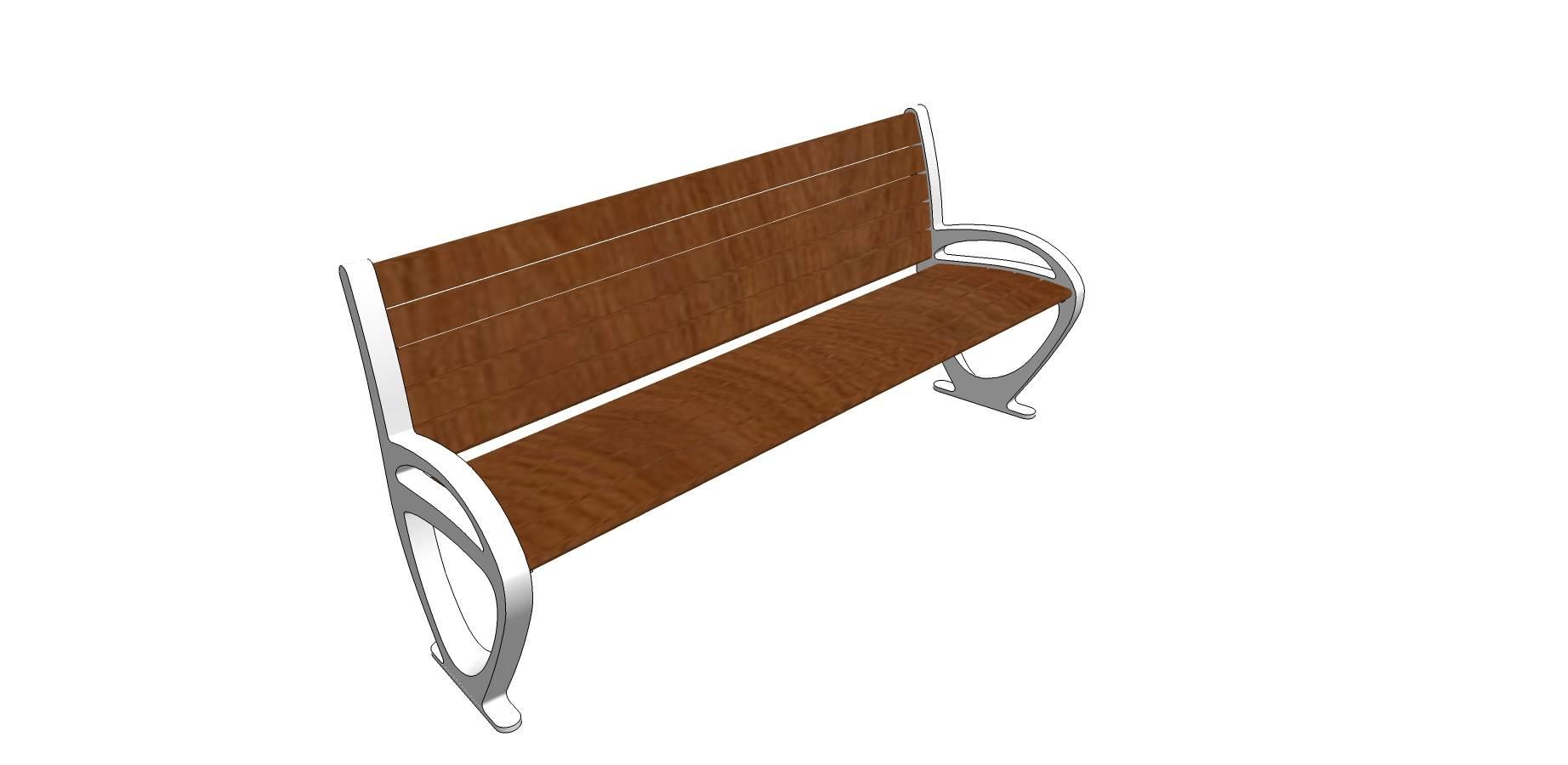 步行街/公园/户外休闲座椅SU模型