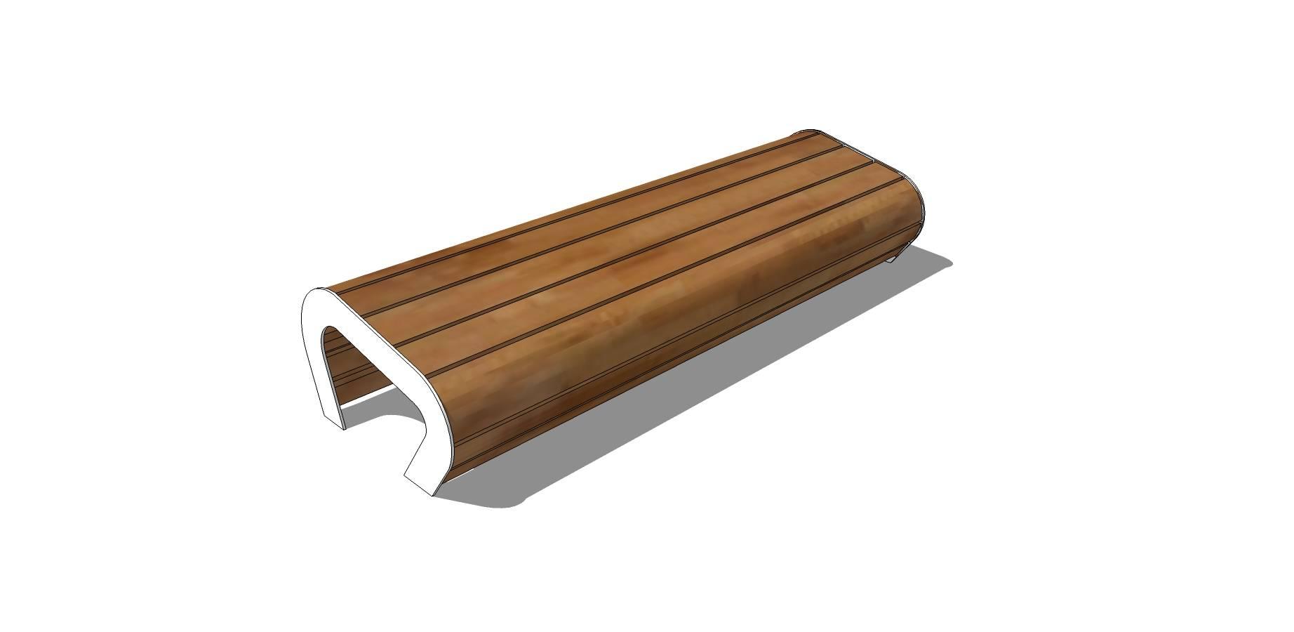 户外简易木质坐凳模型素材