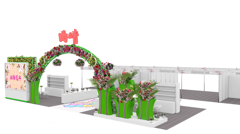 花卉展,展台,展览模型