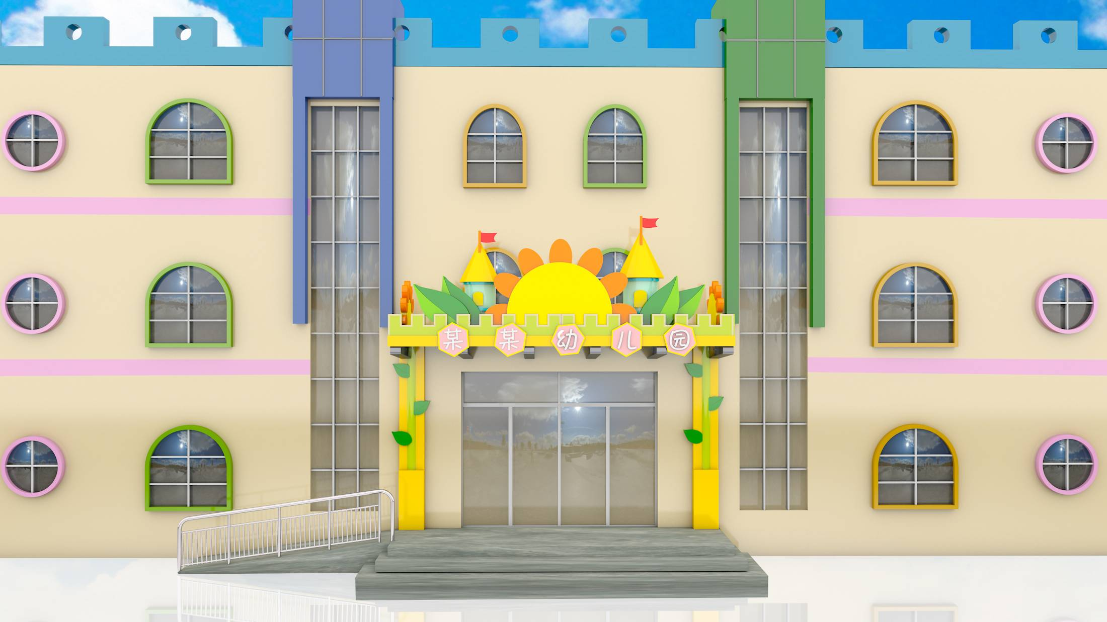 幼儿园设计,装饰设计,门头设计