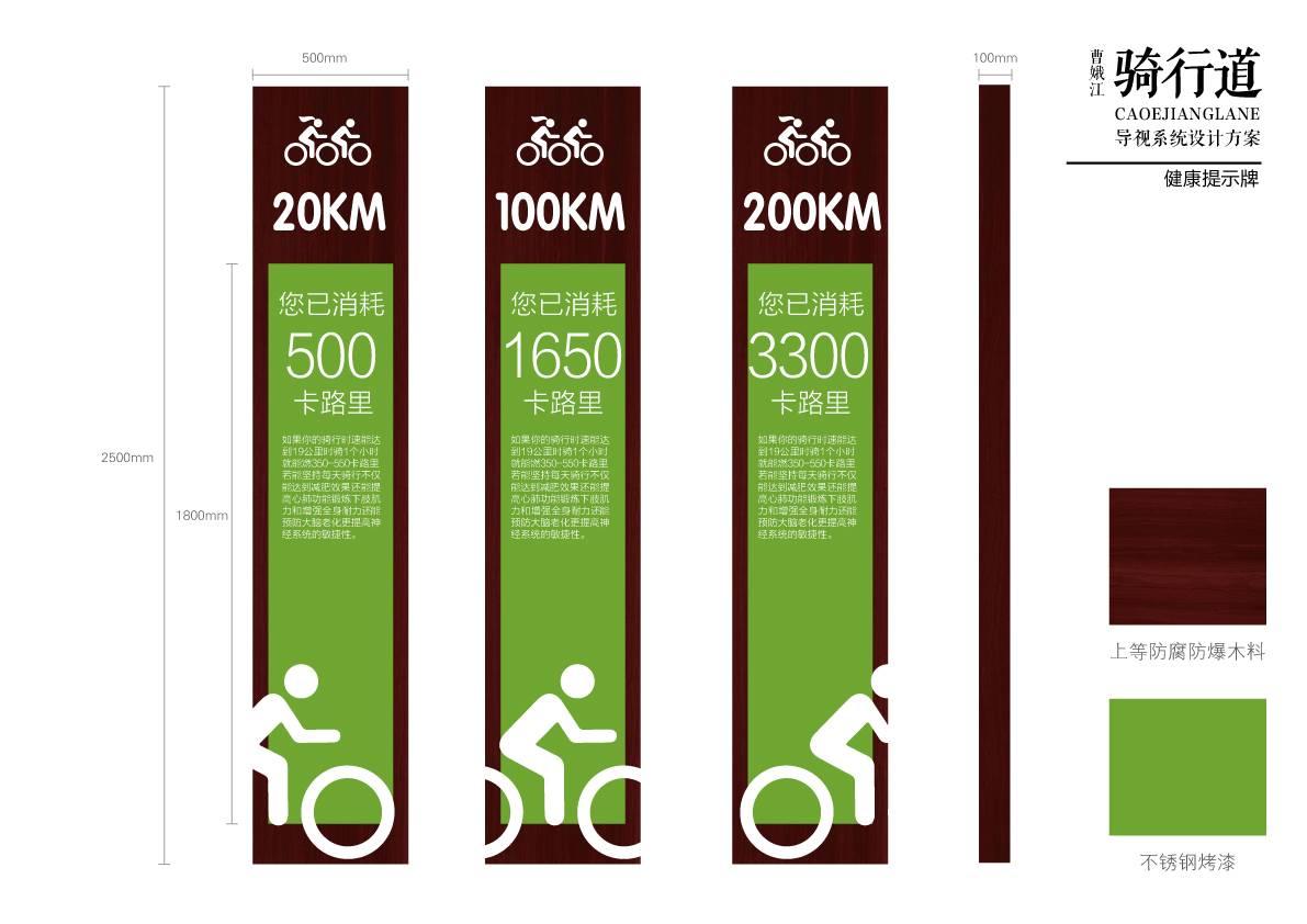 绿色户外骑行道导视系统概念设计
