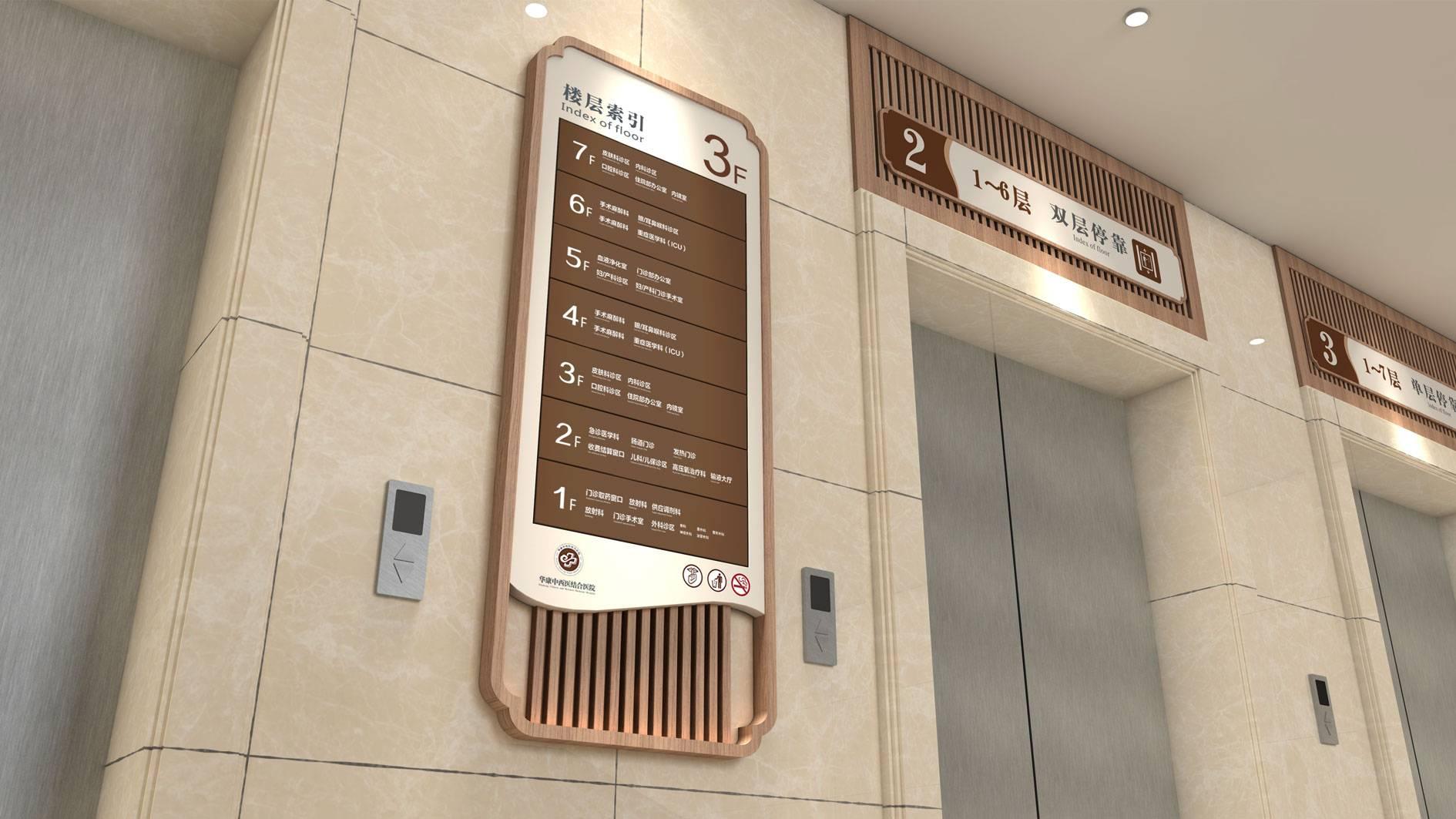 中西医医院导视系统设计