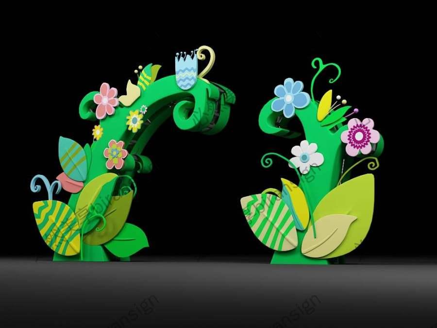 绿植美陈  拱门