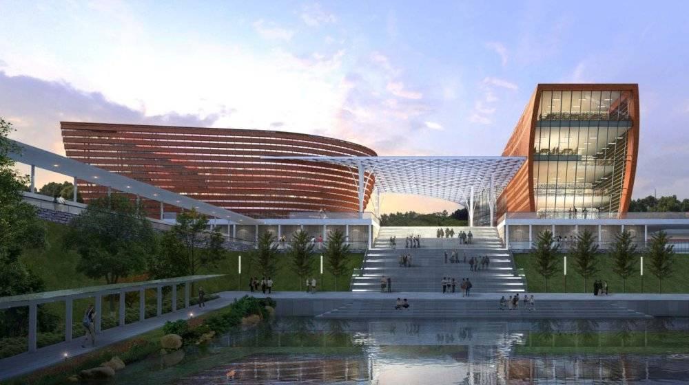 四川现代主义风格5层外国语大学重庆国际商学院概念性方案