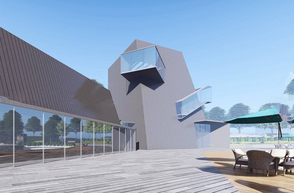 现代主义风格2层艺术馆