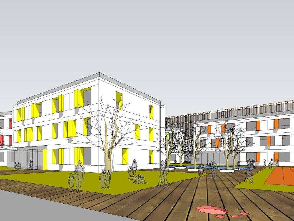 乐清现代主义风格3层幼儿园