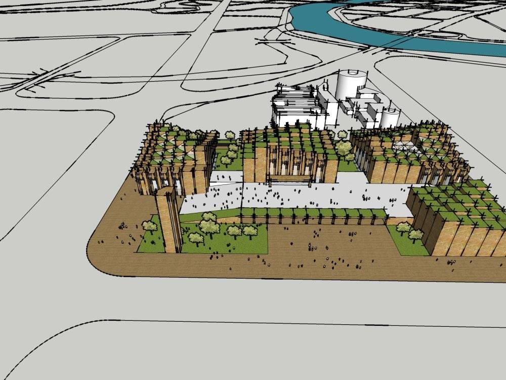 现代主义风格2层公共文化艺术展览馆设计规划
