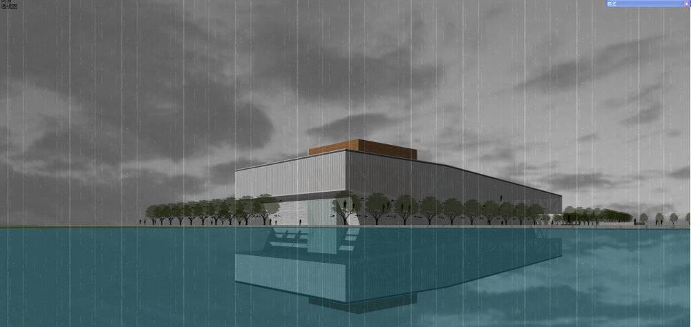 现代主义风格3层展览馆