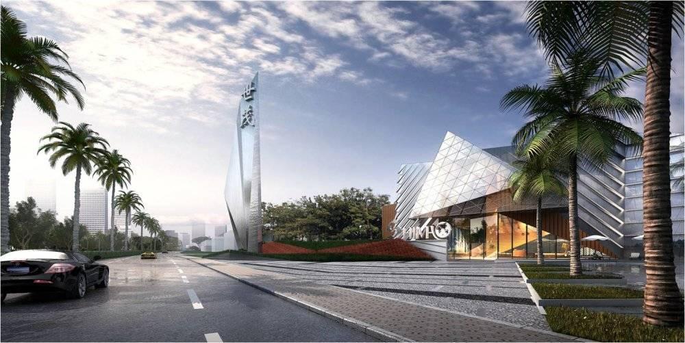 现代主义风格3层世贸展示中心