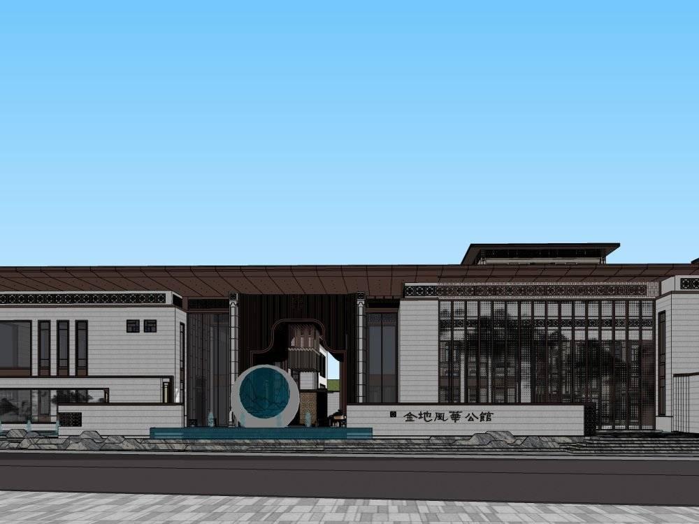 中式风格6层地产住宅小区中式豪宅