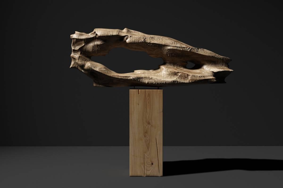 新中式朽木雕塑摆件