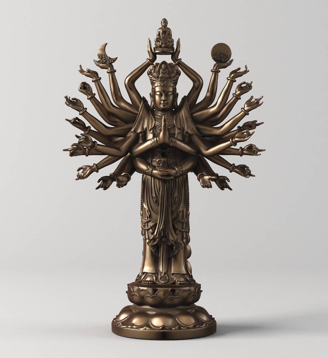 中式千手观音佛像雕塑