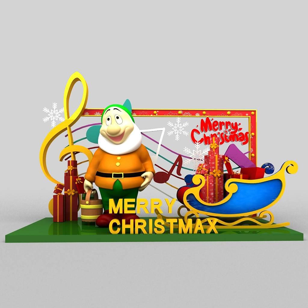 圣诞美陈装饰圣诞DP小景设计