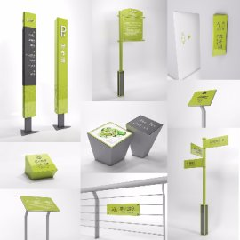 绿灰环保科技感森林地质公园网球场标识系统