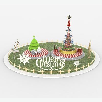 圣诞  商业 美陈 圣诞树  DP点