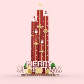 冬季圣诞美陈装饰 模型
