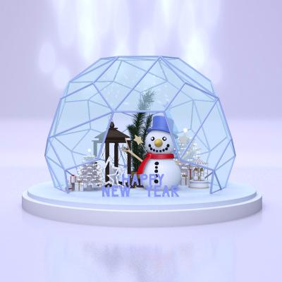 冬季新年美陈设计