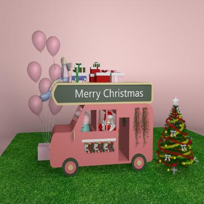 圣诞节小车美陈