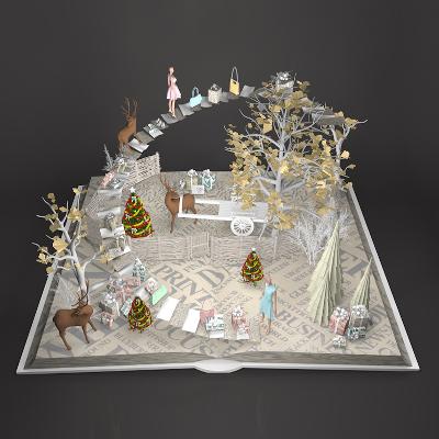 商场圣诞节美陈装饰