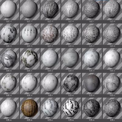 C4D材质球-53款冰雪材质贴图素材