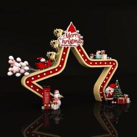 圣诞节星形新年节日门头