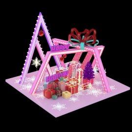 圣诞美陈礼物盒子3d模型