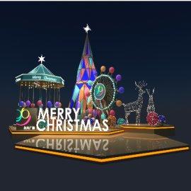 圣诞美陈装置3d模型