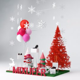 圣诞活动堆头