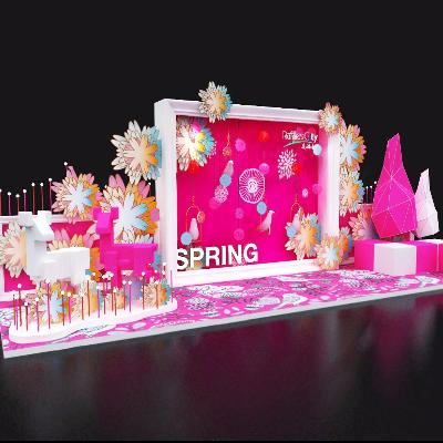 春季现代舞台美陈3d模型